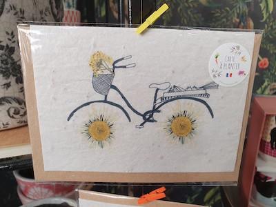 Les cartes de Lulu - cartes à planter - dessin bicyclette - fabrication française - dessinée à la main - peinture à l'eau - éco- responsable